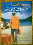 Click to view larger image of 1954 Airplane Leather with Man Looking At Plane In Sky (Image2)