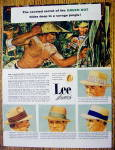 1954 Lee Straw Hats with Savage Jungle