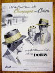1954 Dobbs Hats with Champagne & Caviar