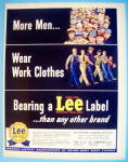 Click to view larger image of 1949 Lee Work Clothes with Working Men (Image1)