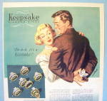 Click to view larger image of 1949 Keepsake Rings with Woman and Man with Ring (Image2)