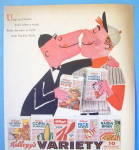 Click to view larger image of 1958 Kellogg's Cereal with Baseball Player and Umpire (Image2)