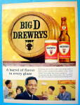 1963 Drewry's Beer with Man and Glass Of Beer