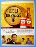 Click to view larger image of 1963 Drewry's Beer with Man and Glass Of Beer (Image2)