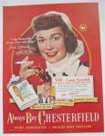 Click to view larger image of 1948 Chesterfield Cigarettes with Jane Wyman  (Image1)