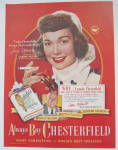 Click to view larger image of 1948 Chesterfield Cigarettes with Jane Wyman  (Image2)
