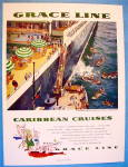 1955 Grace Cruise Line with Caribbean Cruises