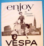 Click to view larger image of 1956 Vespa with Woman on the Bike (Image2)