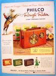 Click to view larger image of 1956 Philco Radio with Rough Rider Portable Radio (Image1)
