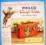 Click to view larger image of 1956 Philco Radio with Rough Rider Portable Radio (Image2)
