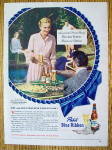 1948 Pabst Blue Ribbon Beer with Miss Joan Fontaine