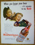 Click to view larger image of 1953 Budweiser Beer with Man & Woman w/Instruments (Image1)