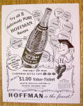 1953 Hoffman Ginger Ale with Boy Wearing Graduation Cap