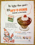 1953 My-T-Fine Pudding with Circus Clown