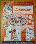 Click here to enlarge image and see more about item 17417: 1953 Schwinn Bike with Ringling Brother's Circus
