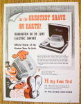 Click here to enlarge image and see more about item 17419: 1953 Remington Shaver with Circus Clown