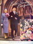 Click to view larger image of 1938 Florist Telegraph Delivery w/Man & Woman At Easter (Image2)