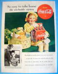 1938 Coca Cola (Coke) with Little Girl & Six Pack
