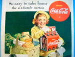 Click to view larger image of 1938 Coca Cola (Coke) with Little Girl & Six Pack (Image2)