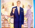 Click to view larger image of 1955 Pacific Fabrics with Woman Looking At Man In Suit (Image2)