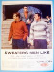 1958 Orlon Sweaters with Three Men In Sweaters