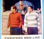 Click to view larger image of 1958 Orlon Sweaters with Three Men In Sweaters (Image2)