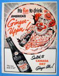Click to view larger image of 1953 Canada Dry Ginger Ale with Circus Clown (Image1)