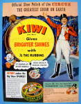 1953 Kiwi Boot Polish with The Circus Ringmaster