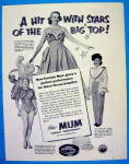 Click here to enlarge image and see more about item 17468: 1953 Mum Deodorant With Circus Beauties