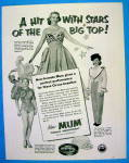 Click to view larger image of 1953 Mum Deodorant With Circus Beauties (Image2)