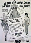 Click to view larger image of 1953 Mum Deodorant With Circus Beauties (Image3)
