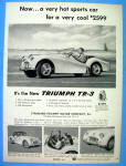 1956 Triumph TR-3 with Man Driving The Car