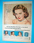 1953 Lustre Creme Shampoo with Movie Star Jeanne Crain