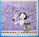 Click to view larger image of 1956 Heublein Vermouth with Dorothy Kilgallen (Image2)