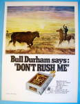 Click to view larger image of 1968 Bull Durham Cigarettes with Encounter At Dawn (Image1)