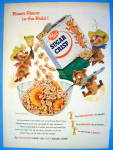 Click to view larger image of 1955 Post Sugar Crisp Cereal w/ 3 Bears Pouring Cereal (Image1)