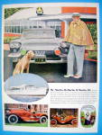 1958 Springmaid Fabrics with Famous Sports Car Buff