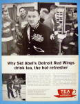 Click here to enlarge image and see more about item 17517: 1962 Tea With Player & Coach Sid Abel (Red Wings)