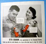 Click to view larger image of 1956 Alcoa Aluminum With Quarterback Otto Graham (Image2)