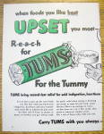 Click to view larger image of 1953 Tums with The Circus Clown Standing On His Head (Image2)