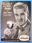 1948 Schaefer Beer with Broadway Star Paul Kelly