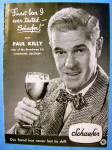 Click to view larger image of 1948 Schaefer Beer with Broadway Star Paul Kelly (Image2)