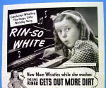 1944 Rinso Soap w/ Girl Playing Piano