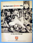 Click to view larger image of 1967 Carnation Milk With Football's Gale Sayers (Image1)