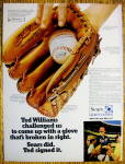 1970 Sears Baseball Glove with Baseball's Ted Williams
