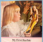 Click to view larger image of 1981 My First Barbie Doll with Little Girl Holding Doll (Image2)