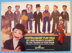 1981 Ventriloquist Play Pals with Little Boy & Puppets