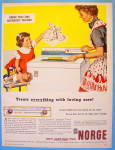 Click to view larger image of 1957 Norge Washing Machine with Mom & Little Girl (Image1)