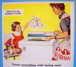 Click to view larger image of 1957 Norge Washing Machine with Mom & Little Girl (Image2)