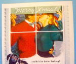 Click to view larger image of 1948 Jantzen Sweaters with Man & Woman Kissing (Image2)